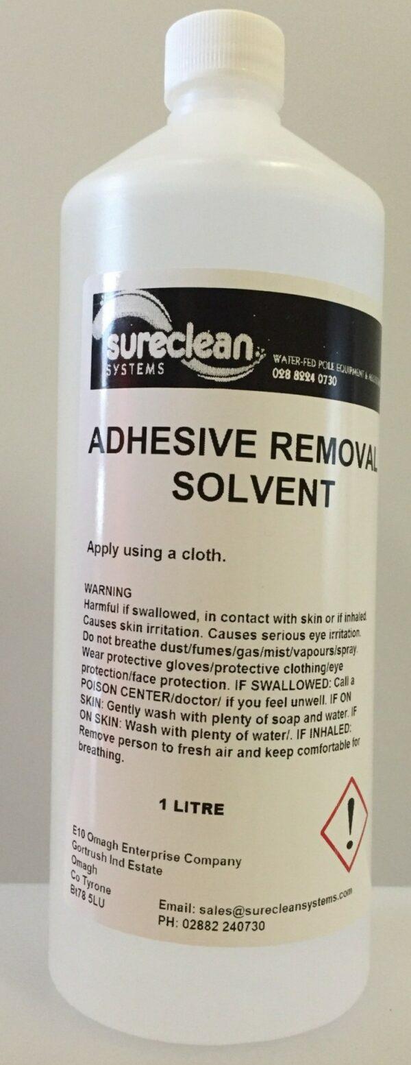 adhesive remover white e